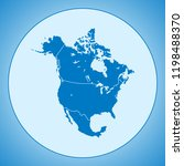map of north america | Shutterstock .eps vector #1198488370