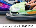 electric bumper cars in... | Shutterstock . vector #1198489033