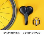 set of different bicycle parts... | Shutterstock . vector #1198489939
