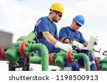 engineer in the oil and natural ... | Shutterstock . vector #1198500913