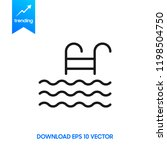 swimming pool icon  isolated on ... | Shutterstock .eps vector #1198504750