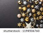 beautiful christmas golden... | Shutterstock . vector #1198506760
