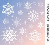 snowflake christmas design... | Shutterstock .eps vector #1198509283