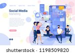 flat design  web page template... | Shutterstock .eps vector #1198509820