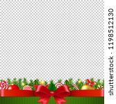 xmas garland transparent... | Shutterstock .eps vector #1198512130