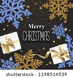 merry christmas shiny card with ... | Shutterstock .eps vector #1198514539