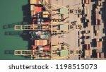 aerial top down view of big... | Shutterstock . vector #1198515073