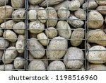 cobblestone gabion wall... | Shutterstock . vector #1198516960