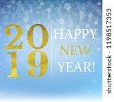 new year postcard with gradient ... | Shutterstock .eps vector #1198517353