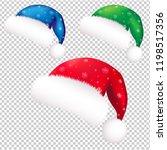 christmas banner with santa... | Shutterstock .eps vector #1198517356