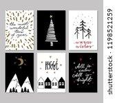 set of doodle christmas... | Shutterstock . vector #1198521259