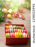 macaronc mixed colorful in the... | Shutterstock . vector #1198525993