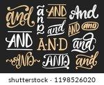 handwritten conjunctions and... | Shutterstock .eps vector #1198526020