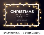 dark christmas sale design with ... | Shutterstock .eps vector #1198528093