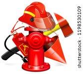 vector fire prevention... | Shutterstock .eps vector #1198530109