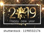 happy new year 2019 card with... | Shutterstock .eps vector #1198532176