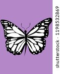 insect butterfly vector... | Shutterstock .eps vector #1198532869