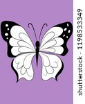 insect butterfly vector... | Shutterstock .eps vector #1198533349