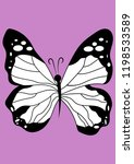 insect butterfly vector... | Shutterstock .eps vector #1198533589