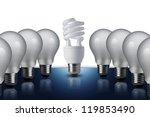 fluorescent light bulb in... | Shutterstock . vector #119853490