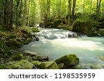 Swift Mountain Stream With...