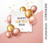 happy new year 2019 background... | Shutterstock .eps vector #1198536340