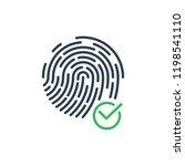 confirmation fingerprint...   Shutterstock .eps vector #1198541110