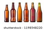beer bottle on white background ... | Shutterstock . vector #1198548220