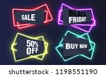 colorful neon templates for... | Shutterstock .eps vector #1198551190