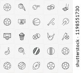 balls line icon set with...   Shutterstock .eps vector #1198551730