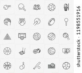 balls line icon set with...   Shutterstock .eps vector #1198551916