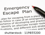 Emergency Escape Plan With Red...