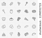 bakery line icon set with... | Shutterstock .eps vector #1198552723