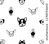 seamless pattern with dog... | Shutterstock .eps vector #1198554643