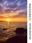 beautiful landscape. sunset...   Shutterstock . vector #1198555396