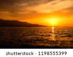 beautiful landscape. sunset...   Shutterstock . vector #1198555399