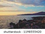 beautiful landscape. sunset...   Shutterstock . vector #1198555420