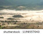beautiful scenery of mountain... | Shutterstock . vector #1198557043