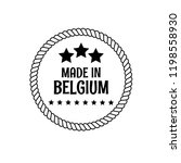 stamp made in belgium. vintage... | Shutterstock .eps vector #1198558930