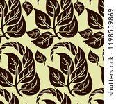 vector seamless floral pattern... | Shutterstock .eps vector #1198559869