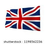 waving flag of the great... | Shutterstock . vector #1198562236