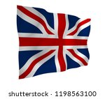 waving flag of the great... | Shutterstock . vector #1198563100