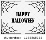 halloween frame with cobwebs.... | Shutterstock .eps vector #1198565386