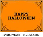 halloween frame with cobwebs.... | Shutterstock .eps vector #1198565389