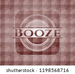 booze red badge with geometric... | Shutterstock .eps vector #1198568716