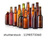 beer bottle on white background ... | Shutterstock . vector #1198573360