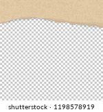 torn paper edges for background.... | Shutterstock .eps vector #1198578919