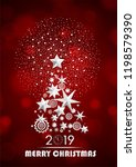 christmas and new year 2019... | Shutterstock .eps vector #1198579390