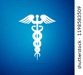 caduceus medical symbol icon... | Shutterstock . vector #1198583509