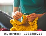 Woman Knits Crochet. The Girl...